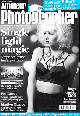 Amateur Photographer magazine with Sony Alpha 68 camera on test  , 9th July 2016