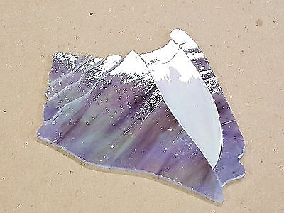 """PRECUT STAINED GLASS SEA SHELL MOSAIC INLAY GARDEN STONE 5.25""""x 4"""""""
