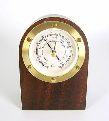 Barigo Barometer mit Holzgehäuse Teak? Made In Germany RARE High Quality