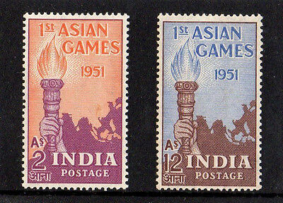 India 1951 First Asian Games - Complete Set Of Stamps - Good Mint