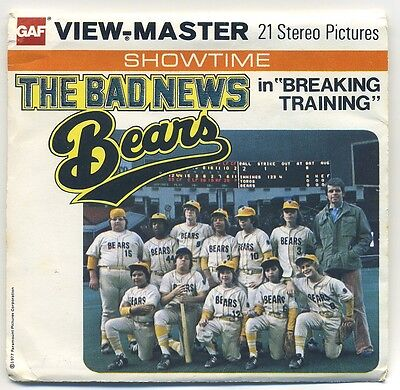 The Bad News Bears in Breaking Training 1977 View-Master Packet H-77 Exc. Cond.