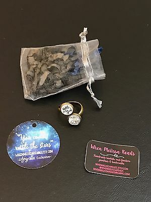 """LitJoy Crate Exclusive """"Rattle The Stars"""" Adjustable Ring Book Quote New In Bag"""
