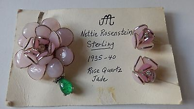 Vintage Rare Nettie Rosenstein Sterling Silver Brooch And Earrings Collectors It