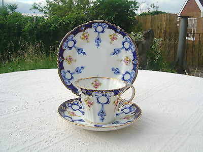 Antique / Vintage Royal Albert Trio - Ribbons & Roses - Cup & Saucer & Plate