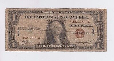 Hawaii  $1 1935-A World War II Emergency money one old note lower grade