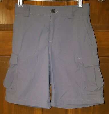 Under Armour Gray Cargo Loose Fit Shorts Boys Size Youth Small Adjustable Waist