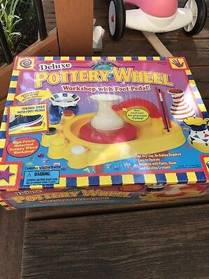 Imagine Nation Motorized Deluxe Pottery Wheel With Foot Pedal & Clay - Sealed