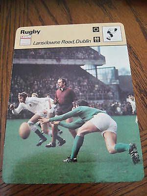 RUGBY UNION - LANSDOWNE ROAD DUBLIN - Sportscaster Photo Fact Card