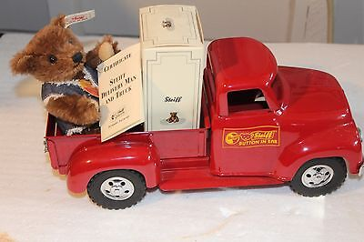 Steiff Delivery Man And Truck-Special Delivery With Bear And Coa Etc.
