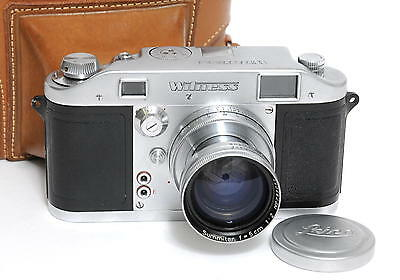 RARE Ilford Witness Camera with Leica Summitar 5cm lens and case very clean!