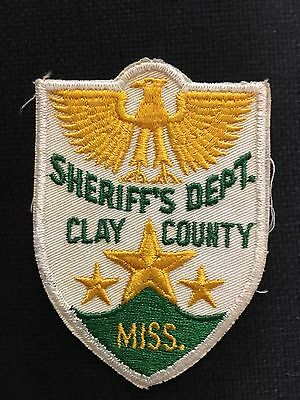 Clay County Mississippi Sheriff Shoulder Patch    Old