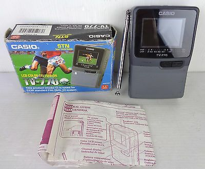 casio tv-770 mini tv portatile, con scatola