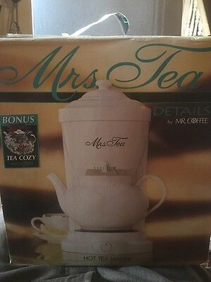 Mrs. Tea by Mr. Coffee 6-Cup Hot Tea Maker Model HTM1D w/ Bonus Tea Cozy - New