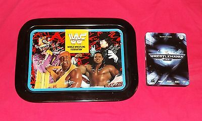 WWF Dinner Tray by Icarus Macho Man/ Hulk Hogan/ The Undertaker/ British Bulldog