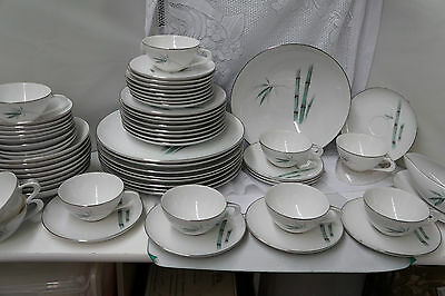 Vintage Sango Bamboo Fine China Dinner Service for 8