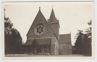 Crathie Church in Old 1920's (Est) Real Photographic PPC, Unknown Publisher, GVG