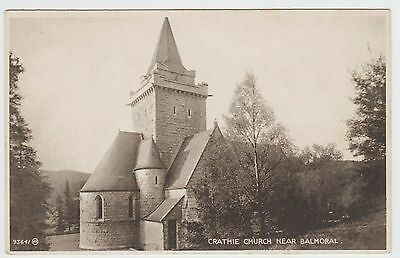 Crathie Church in 1924-28 Vintage PPC, Issued by J & J Bisset, Ballater, GVG.