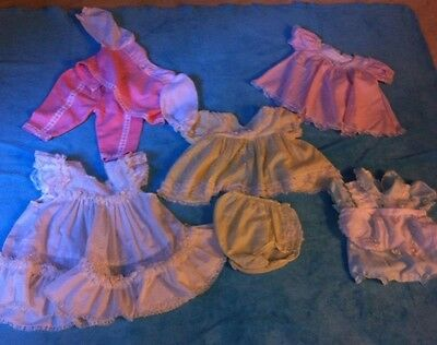 Vintage Lot of 5 Girls Items Dresses  Romper Embroidered Swiss Dot Baby