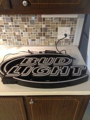 Bud Light Beer Lighted Beer Sign  With Dimmer Switch