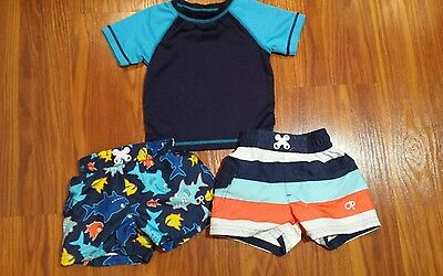 Baby Boys Swimsuits and Rash Guard shirt. size 3-6 months by OP