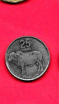 BOTSWANA KM6a 1991 UNC-UNCIRCULATED MINT LARGE 25 THEBES ANIMAL COIN