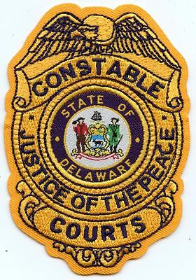 "Delaware Court Constable Justice of the Peace 4"" Patch Law Enforcement Officer"