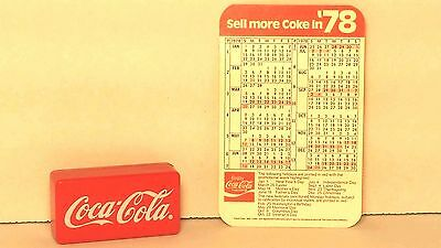 Vintage Coca-Cola Clicker and 78 Coca-Cola Wallet Calendar