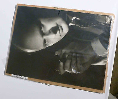 """Ferenc Fricsay (Hungarian conductor) 18cm x 24cm / 7 x 9.5"""" signed B&W photo"""