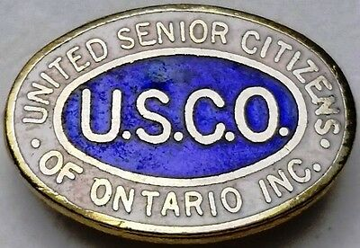 Vintage U.S.C.O. United Senior Citizens of Ontario Inc. Lapel Pin / Badge