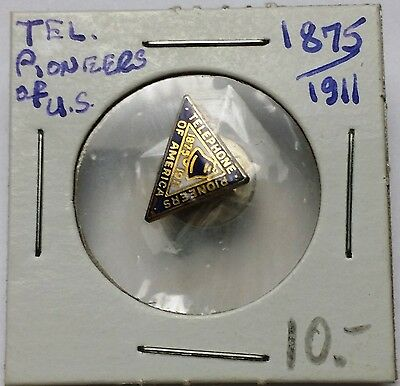 1875-1911 Telephone Pioneers of America Lapel Pin / Badge by C. Lamond Montreal