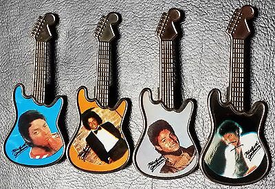 Lot of 4 Michael Jackson Retro Guitar Pins - Very Collectible