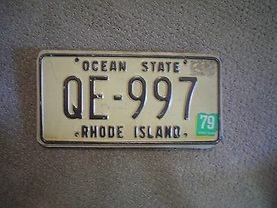 Rhode Island Ocean State 79     License Plate    Buy All States Here