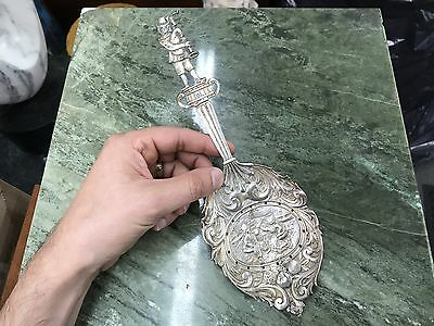Large Antique 800 Silver Hallmarked Serving Spoon Lot#30
