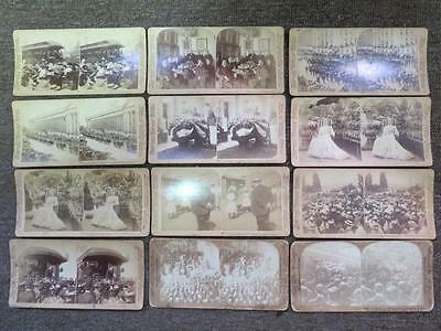 (12) 1901 President William McKinley Stereoview Photograph Collection