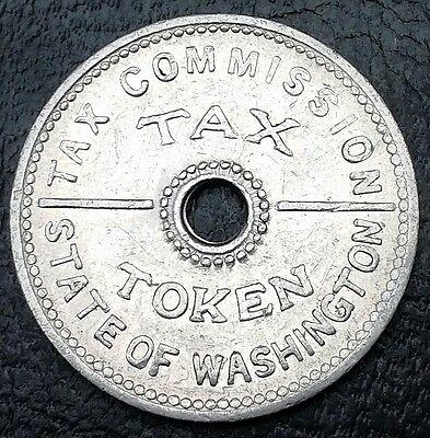 Vintage Washington State Tax Commission Token 10 Cents 1935◢ FREE COMBINED S/H ◣