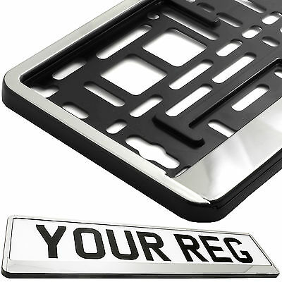 CHROME FRONT Car Number Plate Surround Holder FOR ANY CAR TRUCK VAN TRAILER CAR