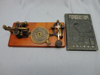 Vintage Omnigraph Mfg. Co Transmitter Telegraph Morse Code w/ Instuctional Book