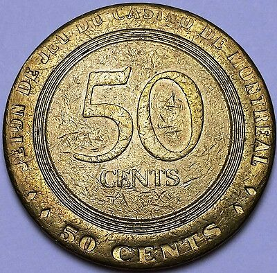 Vintage Casino Montreal 50 Cents Gaming Token Chip, Quebec, Canada **RARE**