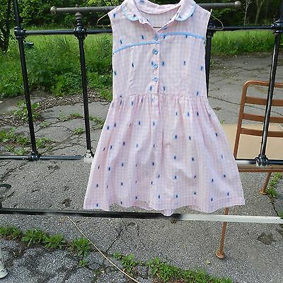Vintage 1950's Pink Cotton Little Girls Dress