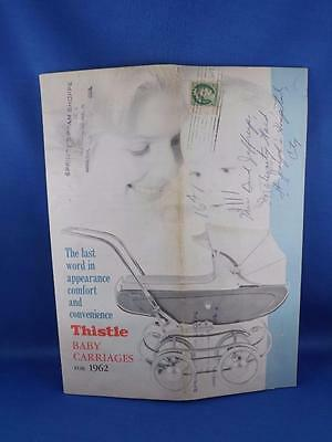 Thistle Baby Carriages For 1962 Sales Brochure Strollers Nursery Furniture