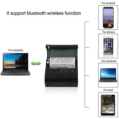 High Speed 80mm Bluetooth Wireless Receipt POS Thermal Printer MJ-8001 XT