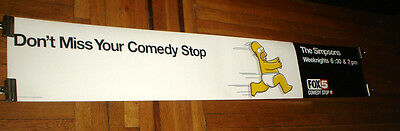 The Simpsons Homer Simpson 6Ft Subway Poster Banner 2000