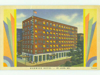 Unused Linen WARWICK HOTEL St. Louis Missouri MO hr7754