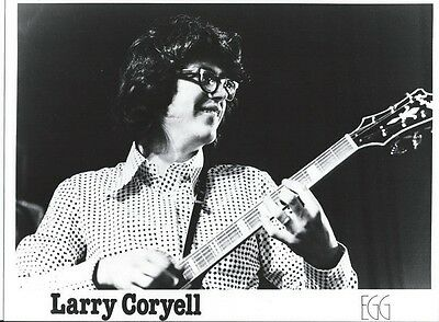 Larry Coryell glossy 8x10 Publicity photo with Press release, rare and mint