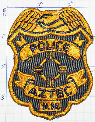 New Mexico, Aztec Police Gray Vintage Patch