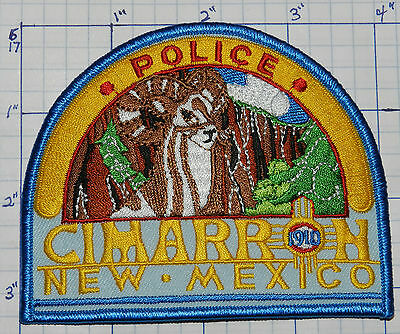 New Mexico, Cimarron Police Blue & Yellow Patch