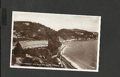 Vintage  Postcard Meadfoot Beach & Hesketh Crescent Torquay Devon unposted