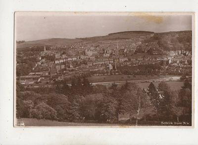 Selkirk From North West Vintage RP Postcard Scotland AR Edwards 650b