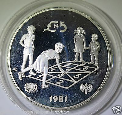 Malta : 1981 Year of the Child 5 Pound - Silver Proof