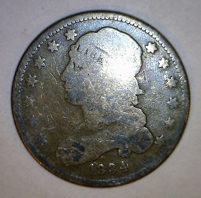 1834 Bust Quarter .25 Coin Silver US Coin FS 901 repunched letters rev cntr stmd